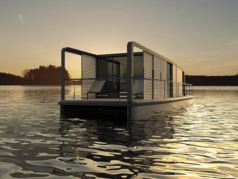 Industrial Design Projekt Hausboot Freiraum