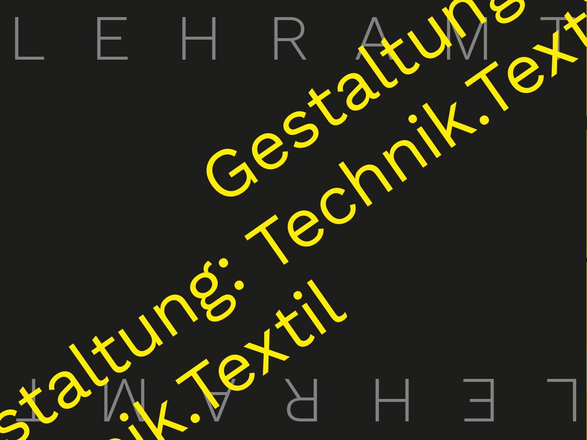 Lehramtsstudium Gestaltung: Technik.Textil