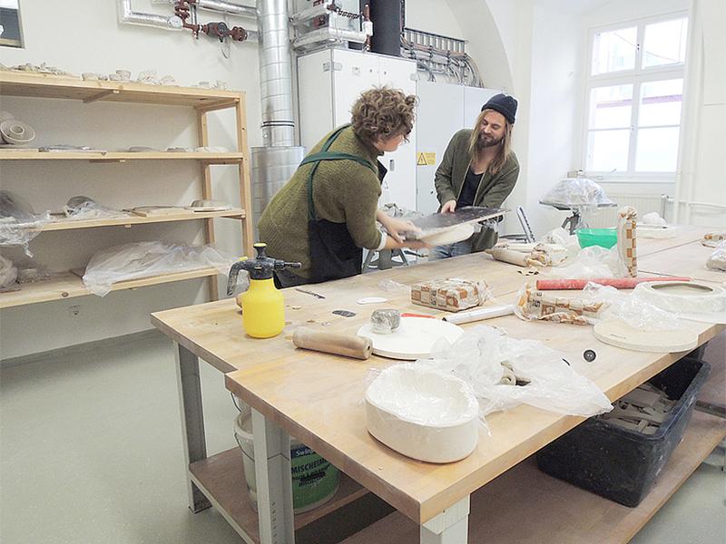 Plastische Konzeptionen / Keramik | Ateliers und Werkstätten